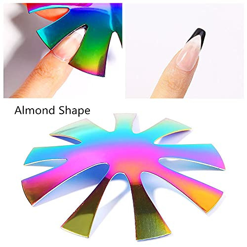 2 Pack French Nail Tip Cutter Deep Smile Line for Acrylic,