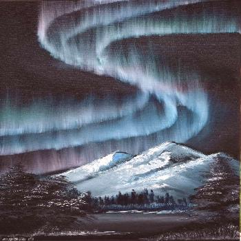 ▷ 1001+ acrylic painting ideas to fill your spare time with northern lights shining in the sky, m