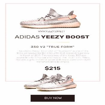 Adidas Yeezy Boost 350 V2 True Form - NEW sneakers for fashion styles Where to buy yeezy boost kick
