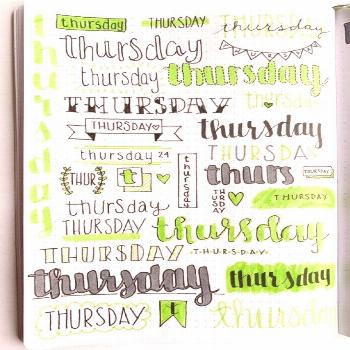 Bullet Journal Weekly Headers For You To Copy! – Sidereal Life Want some inspiration for your bul