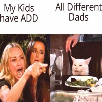 Different Dads The white cat strikes again.