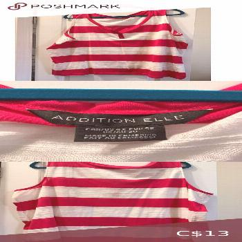 ENC Addition Elle sleeveless striped tank shirt The perfect addition to your spring wardrobe! White