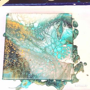 Fluid Acrylic Painting Video - Flip Cup  Fluid acrylic painting using the technique, colors used ar