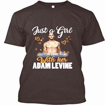 Just a Girl in Love with her Adam Levine T Shirt for Men