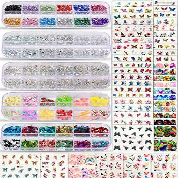 Spearlcable Nail Art Decoration Kit,48 Sheets Nail Stickers
