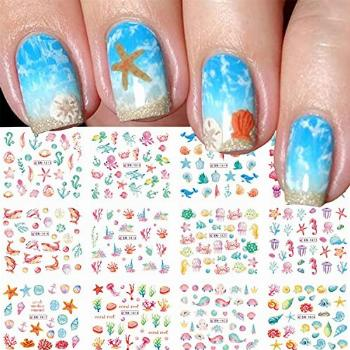 Summer Ocean Nail Stickers for Nail Art Water Transfer