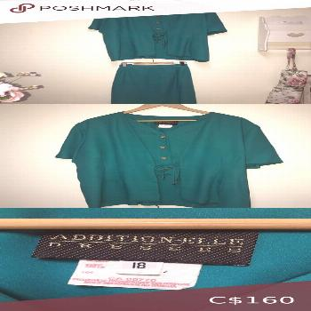 Teal Addition Elle Dress Suit w/ pencil skirt Absolutely beautiful, this color is gorgeous, so pret