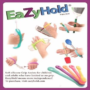 Universal cuff daily living aids and adaptive utensil holders EazyHold