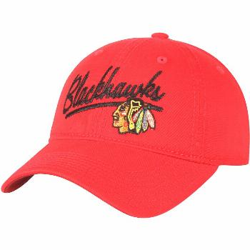 Women's adidas Red Chicago Blackhawks Top Stitch Adjustable Hat
