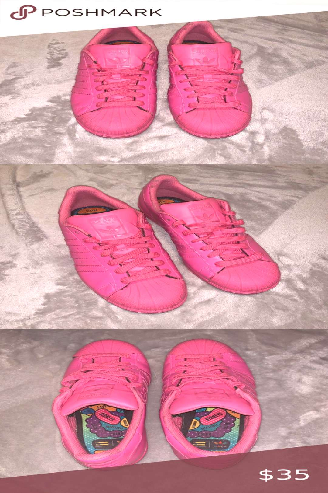 Adidas Superstar Sneaker Pink Women's size 9 adidas Shoes Sneakers