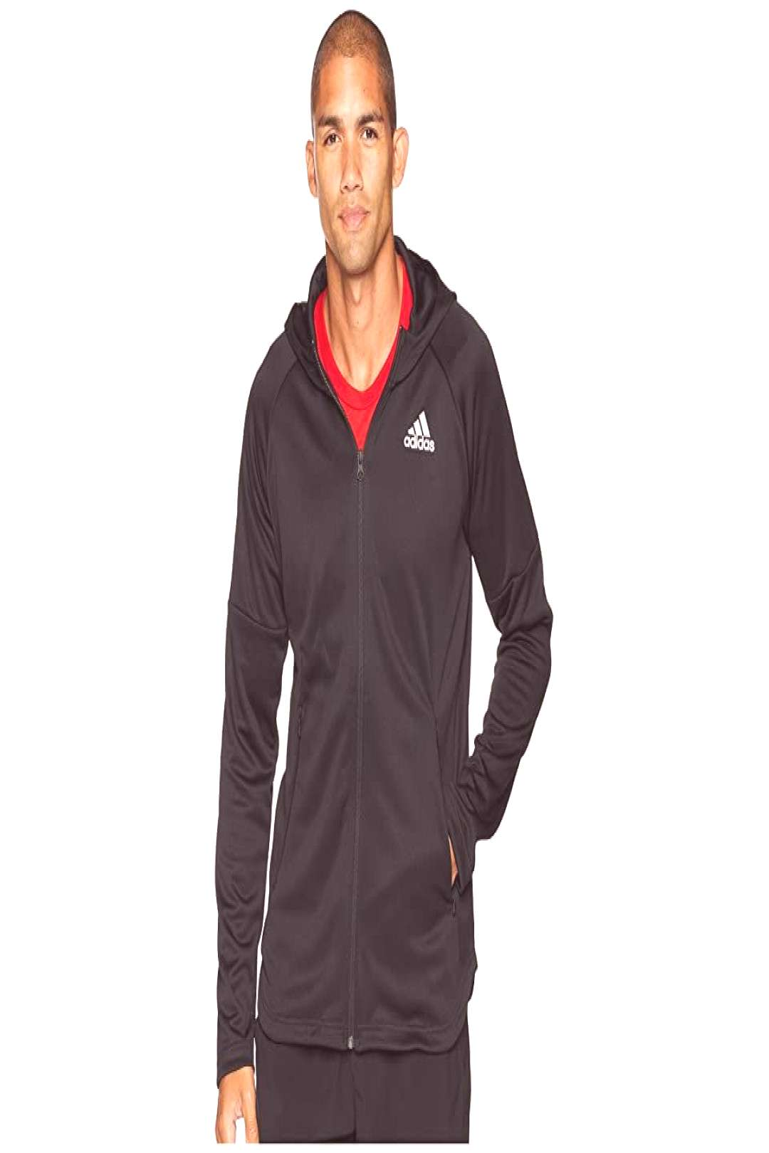 adidas Team Issue Lite Hoodie (Black/Black) Men's Sweatshirt. Be ready to train at moment's notice