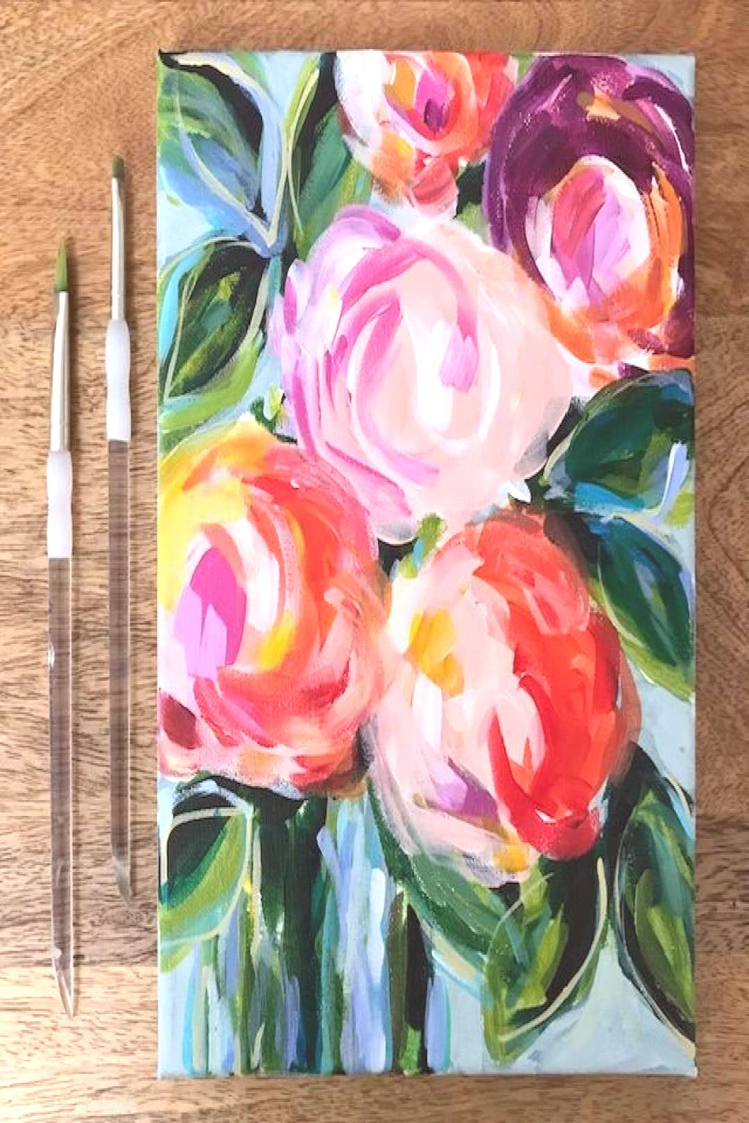 Learn How to Paint Flowers on Canvas with Acrylics the Easy Way with Step by Step Instructions