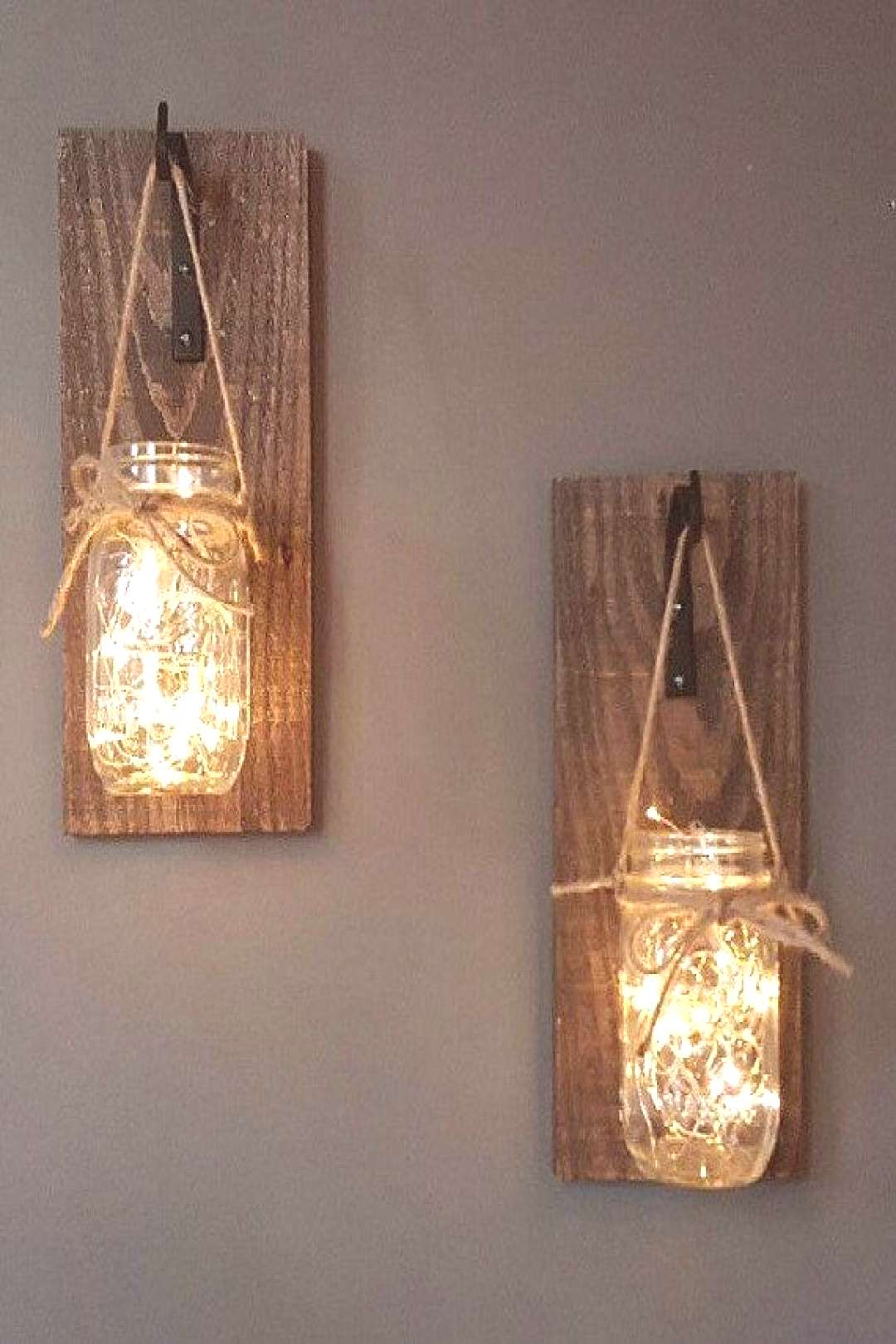 This listing is for a Set of 2 stunning Hanging Mason Jar Sconces. These sconces are hand crafted w